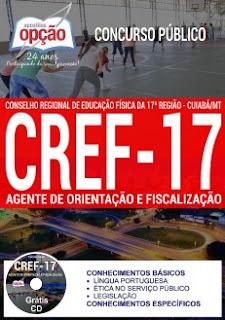 Apostila CREF-17 MT - Grátis testes - Auxiliar Administrativo
