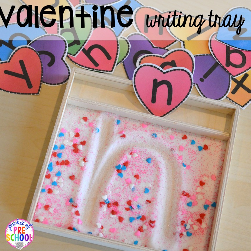 Valentine 39 s day themed centers and activities pocket of for Preschool crafts for february