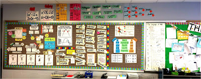 7 Ways I Improved My Classroom Management - adding a math word wall to my classroom