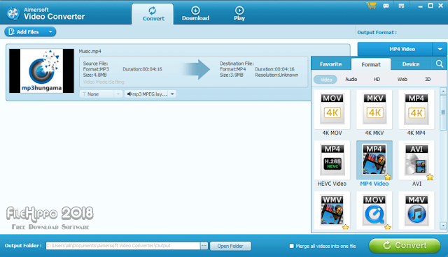 Aimersoft Video Converter Ultimate 2018 Free Download