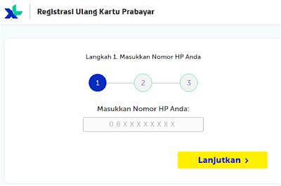 Cara registrasi kartu parabayar XL axis
