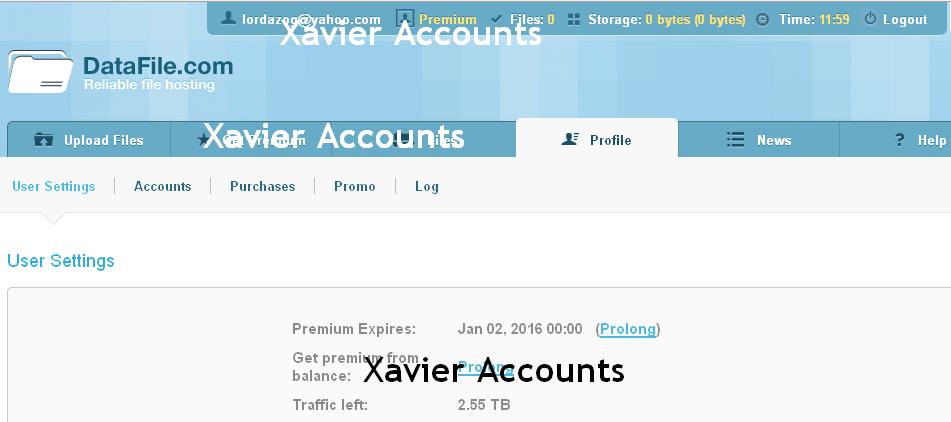 Datafile premium account generator