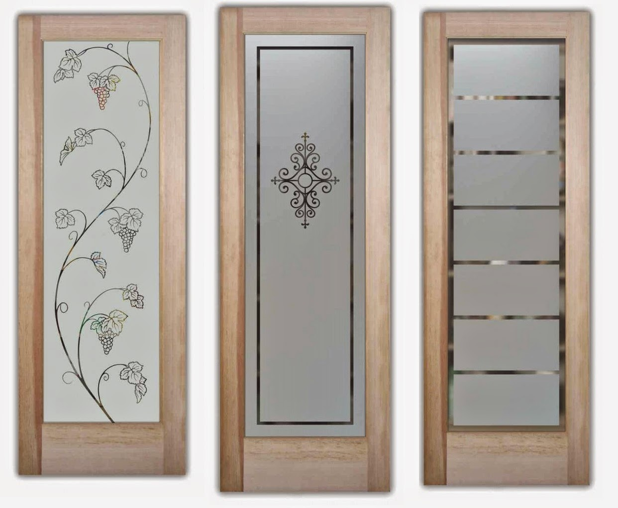 Popular Etched Glass Doors For Interior Beauty ~ Custom Made Glass Furniture XU51