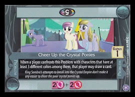 My Little Pony Cheer Up the Crystal Ponies The Crystal Games CCG Card