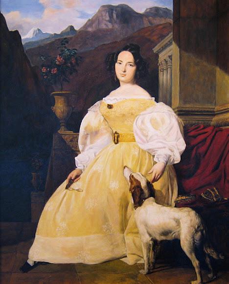 Эвелина Ганская, художник Фердинанд Георг Вальдмюллер (1835)
