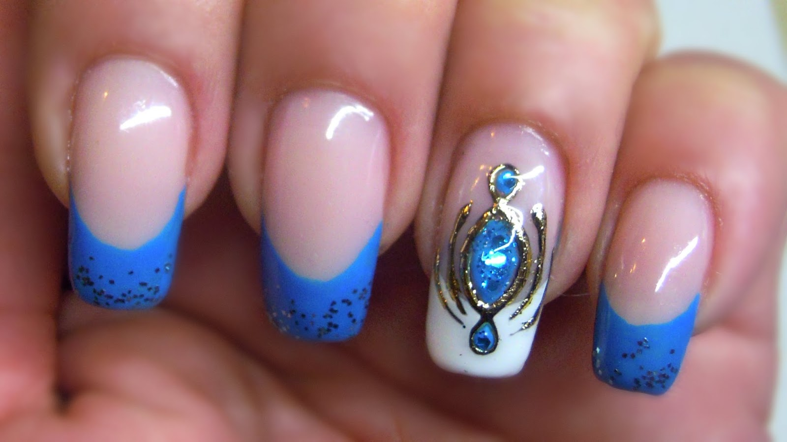 Gemstone Designs For Nails