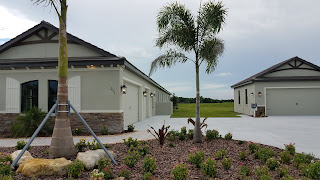 Hampton Lakes Sarasota model home with garage