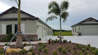 Hampton Lakes Sarasota model home with garage