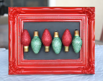 glittery Christmas light magnets