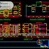 مخطط مشروع عمارة طابق واحد اوتوكاد dwg