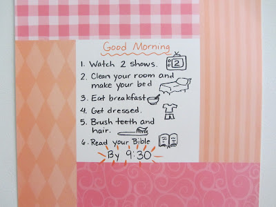 Good Morning Board-morning time routines @tuhomeschool