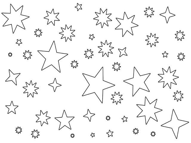 dibujo de cielo estrellado para colorear