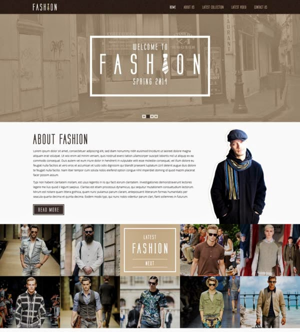 Free Fashion PSD Template