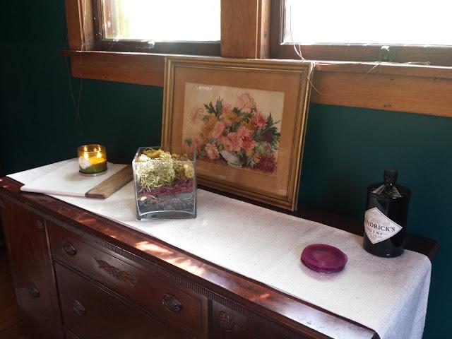 flower painting candle sideboard hendricks