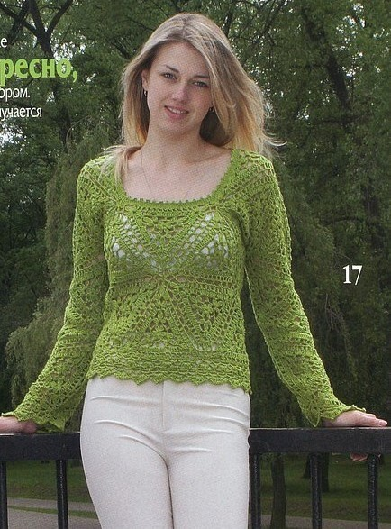 Blusa de Verde de Triángulos