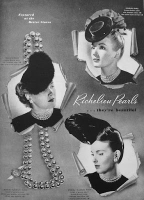 vintage 1940's Richelieu ad for pearls