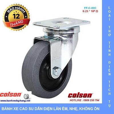 Báo giá bán bánh xe đẩy cao su chống tĩnh điện Colson Mỹ www.banhxepu.net