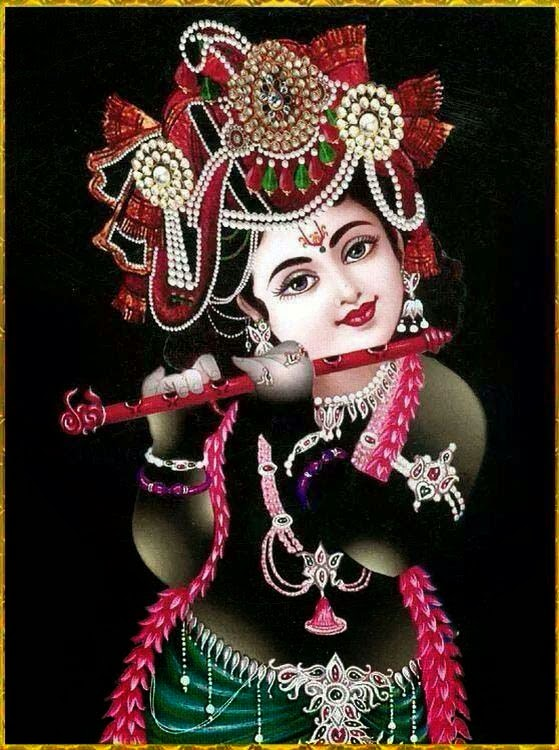 jay shree krishna little hd image