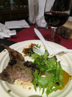 Konzelmann Shiraz and Lamb Chops