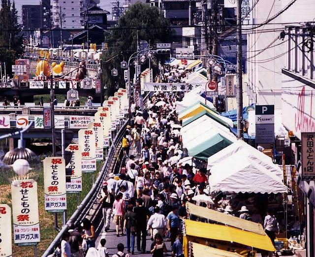 Setomono Matsuri (Sale of Japanese pottery and porcelain), Seto City, Aichi Pref.