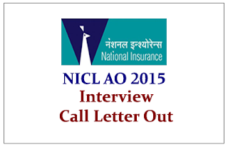 NICL AO 2015 Interview Call Letter Out