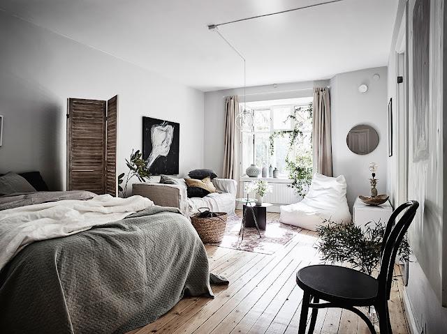 Amenajare boemă și relaxată într-o garsonieră de 37 m²