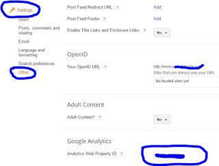 google analytics blogger
