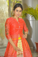 Simrat in Orange Anarkali Dress 12.JPG