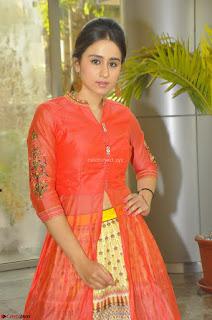 Simrat in Orange Anarkali Dress 12.JPG
