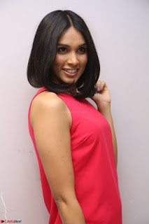 Spatika Surapaneni in Red Tight Dress at FBB Miss India 2017 finalists at Telangana auditions Feb 2017 (60).JPG