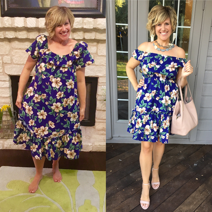 Thrifty Thursday - Muumuu style refashion