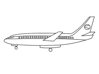 Printable Airplane Coloring Sheet - For Kids Boys Drawing ...