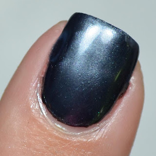 black chrome nail art