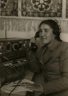 Max Penson photo of Uzbek telephone operator 1938