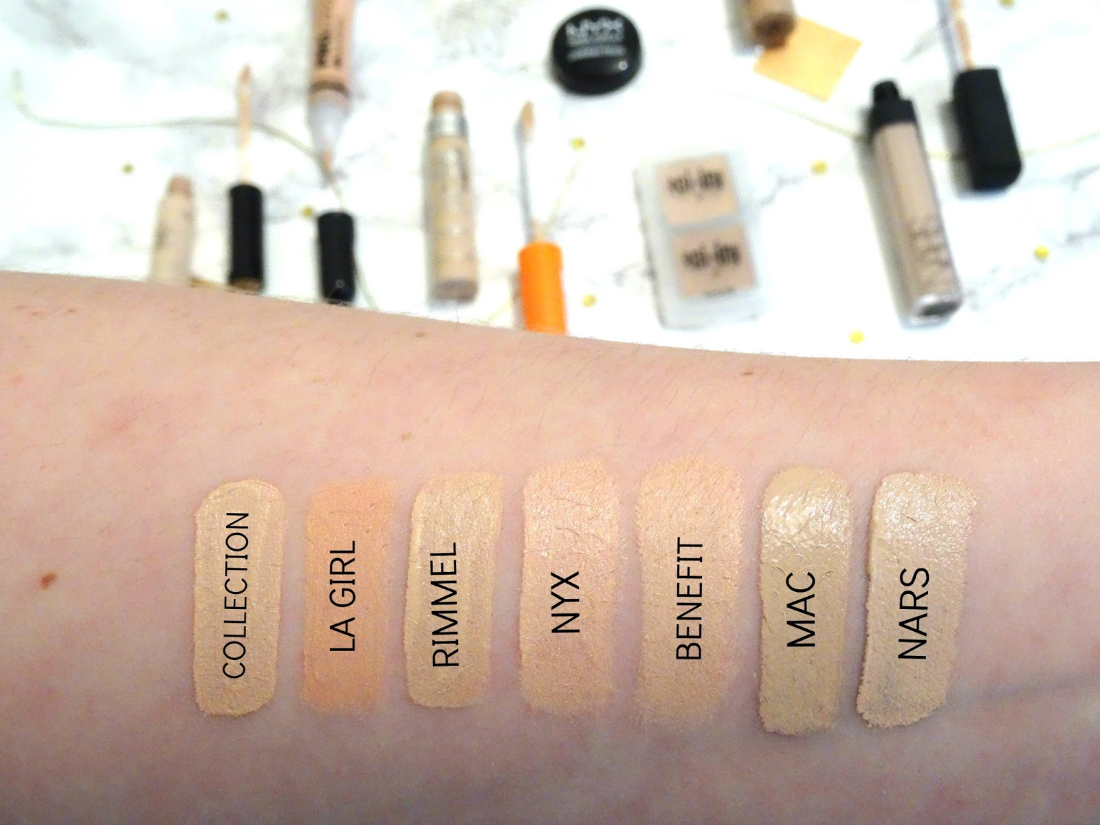 Concealers Battle It Out, Which One Is Best, Highend and Drugstore Swatches