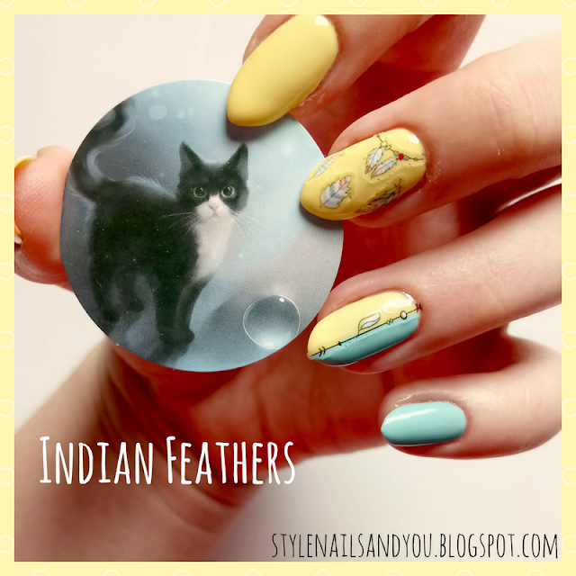 Indian Feathers | Indian 3D Nail Sticker | Born Pretty Store Review