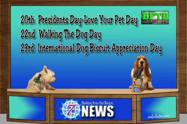 BFTB NETWoof News reports on a special week of holidays for your dog