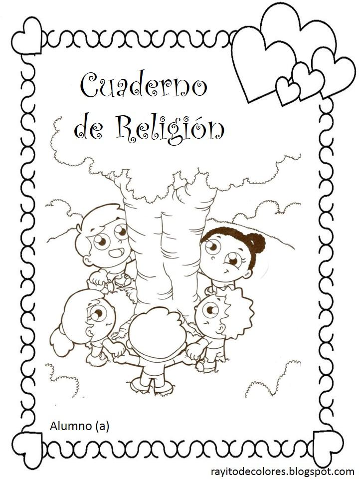carátula escolar para religión