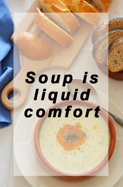 Soup is liquid comfort - shewandersshefinds.com #quote #food