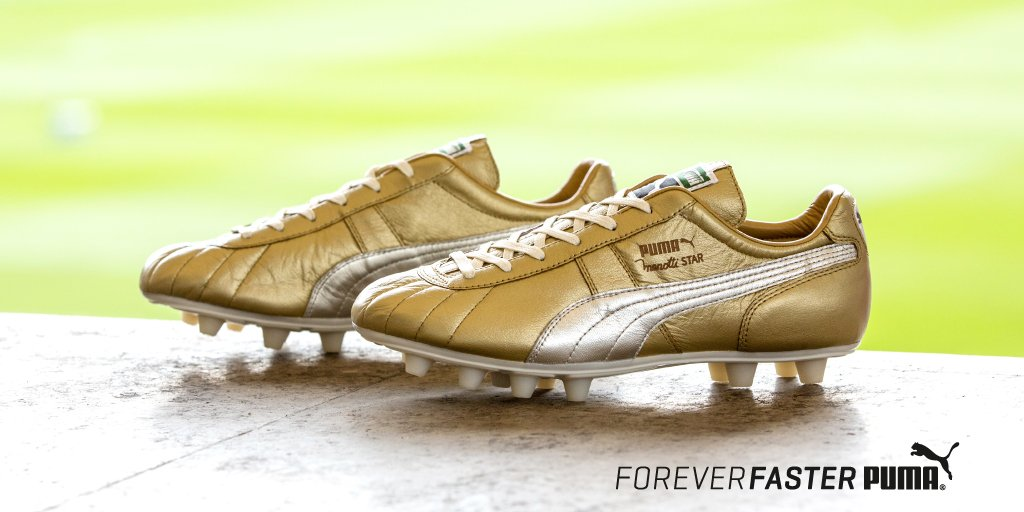 gold puma soccer cleats