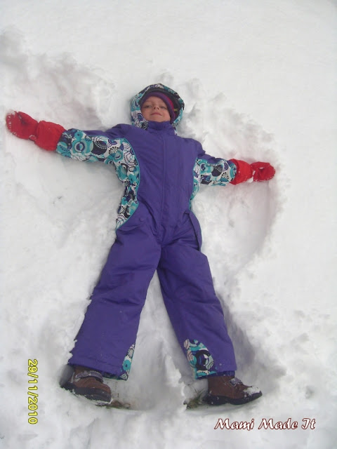 My sweet snow angel!