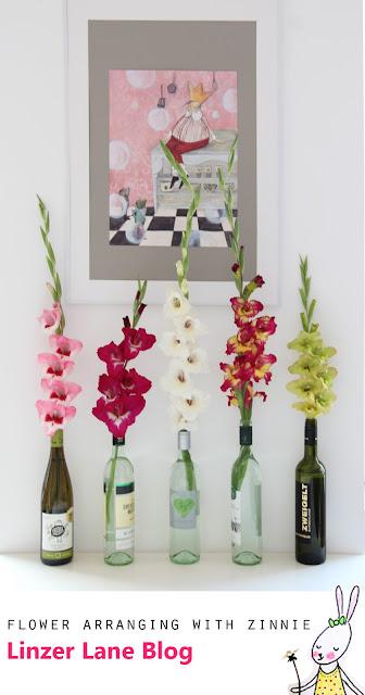 Flower Arranging DIY | Easy Gladiola Display Tip | Linzer Lane Blog