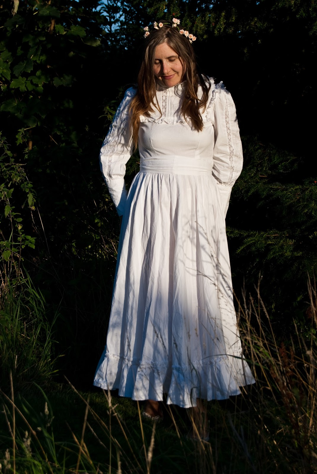 vintage laura ashley wedding prairie laura ashley wedding dresses Vintage Laura Ashley wedding prairie dress from the s