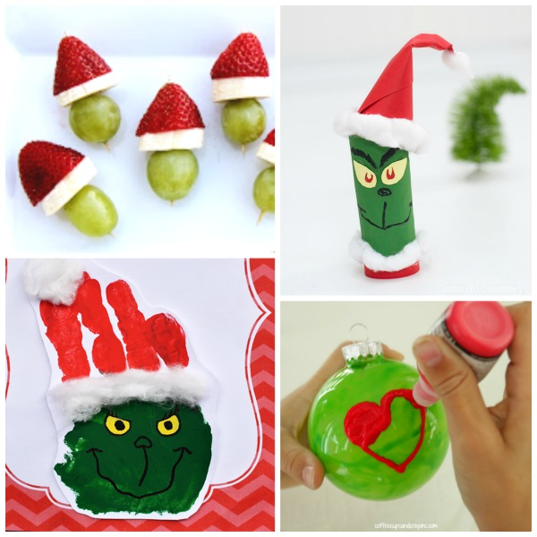 35+ Grinch crafts & activities for kids- so many cute ideas!  love these!  #grinch #christmascrafts #kidscrafts #grinchactivities