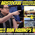 Sen. Bam Aquino Cannot Claim Credit for Manila Bay Clean-up Because His Wife's Family Owns Aristocrat Restaurant