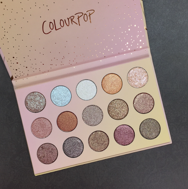 colour pop golden state of mind eyeshadow palette swatches review