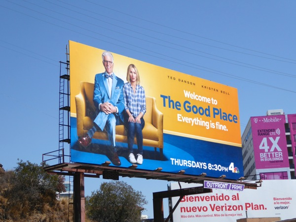 Good Place series premiere billboard