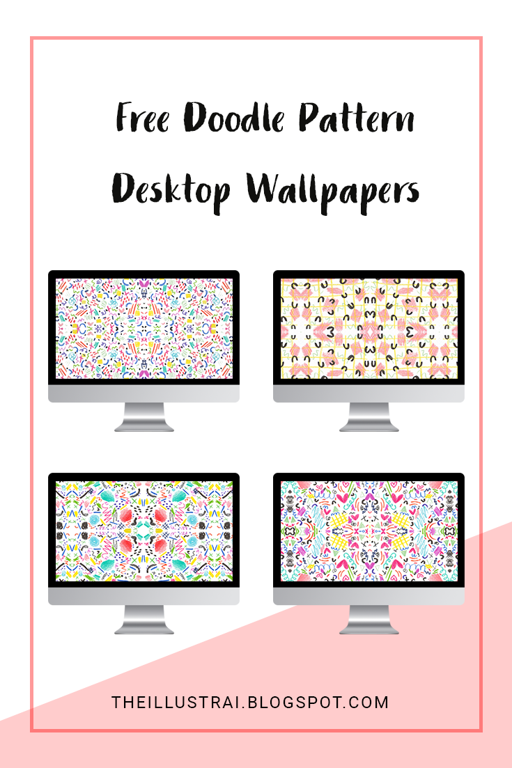 Download these free doodle pattern desktop wallpapers that I have created with colored pencil and ink. Perfect for the color lovers like me :)