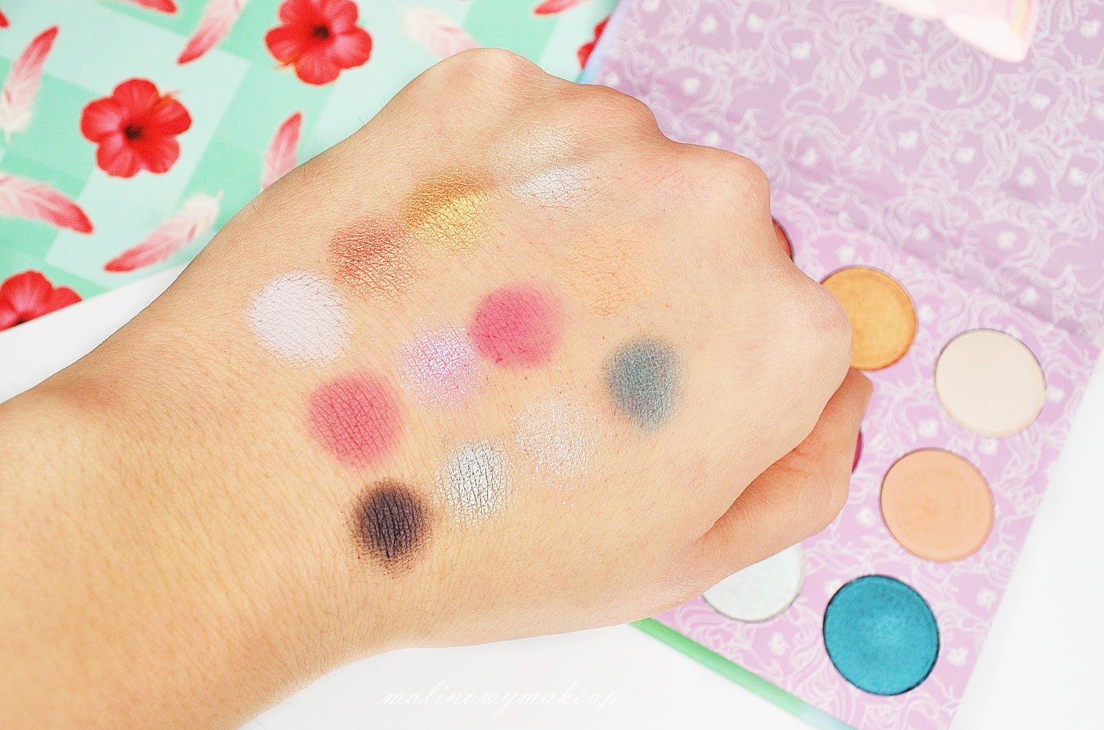 my little pony colourpop swatches