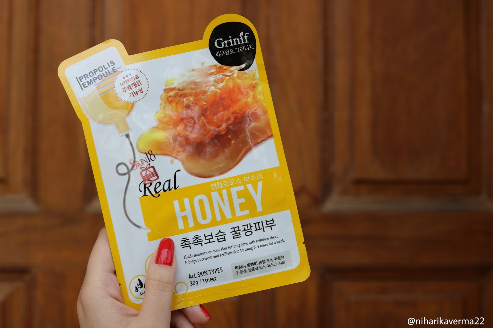 The Pink Velvet Blog Real Honey Sheet Mask